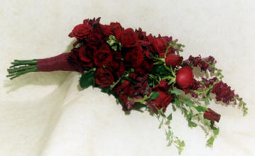 Red roses for the bridal bouquet
